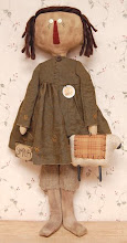 ★Primitive★Abby★ Doll★Folk Art★Ornie★Sheep