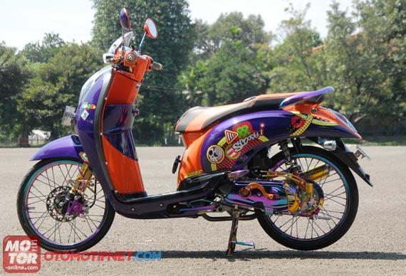 Kumpulan Modifikasi Motor Matic Honda Scoopy title=