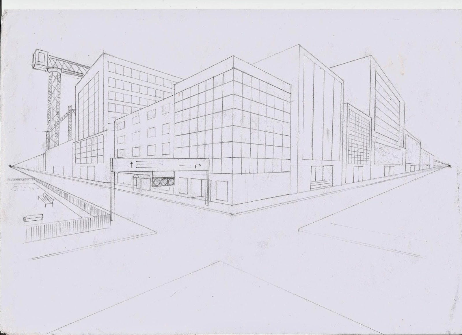Exterior 2 Point Perspective