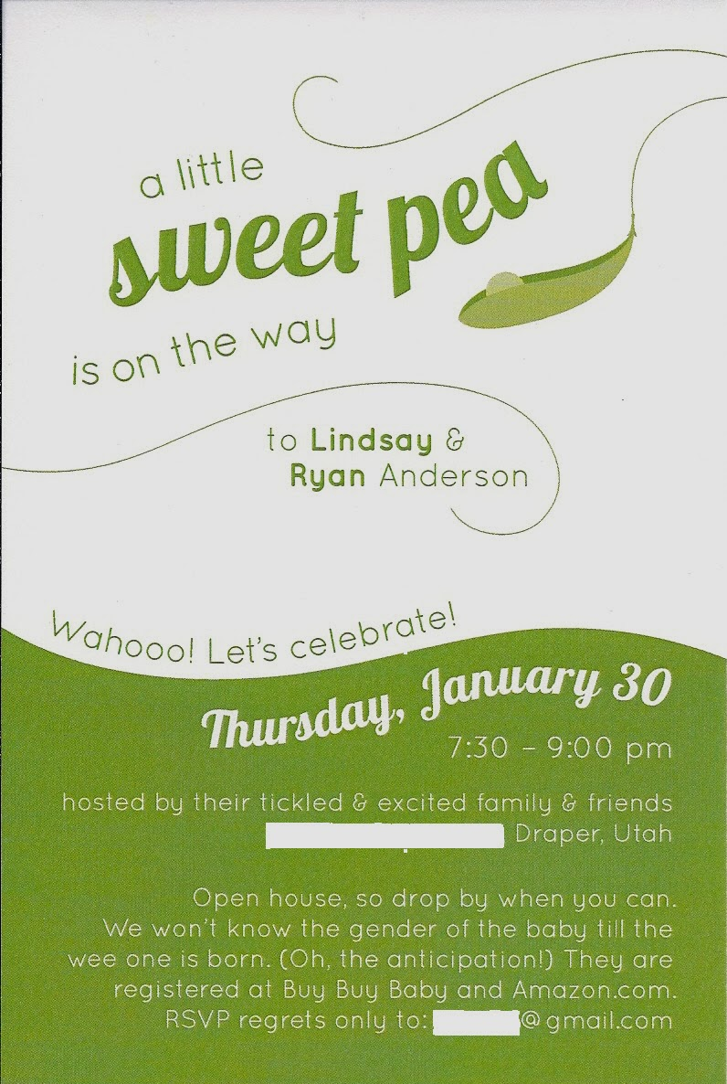 Time of Our Lives: Sweet Pea Baby Shower