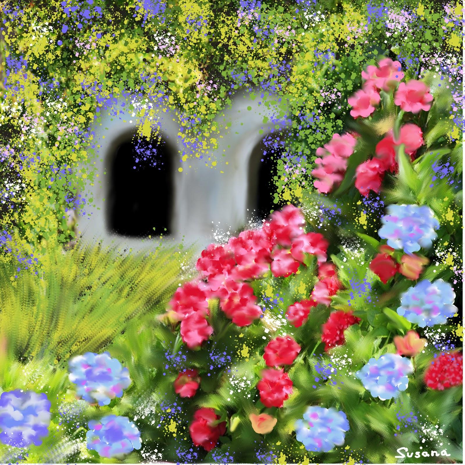 arte susana paisajes florales y ramos de flores
