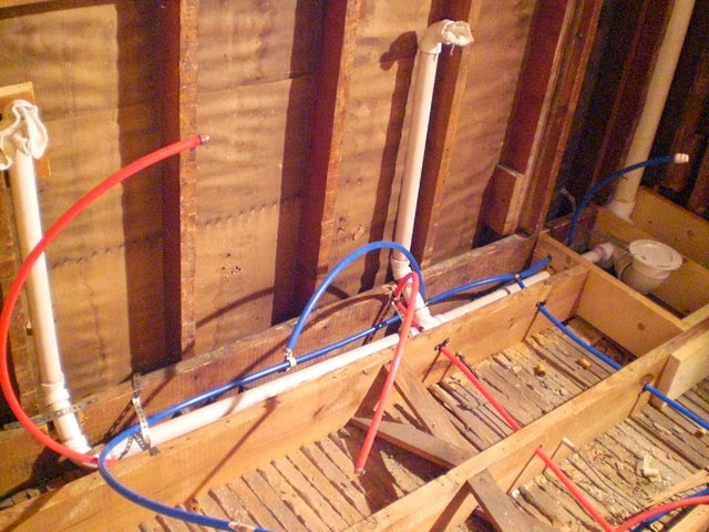 Bathroom redo part two plumbing danks and honey for Toilet water line rough in