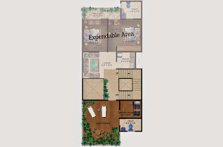 Czar Villas  :: Floor Plans,Type C:-Second FloorServant Room, Open Terrace, Varandah, Expandable Area Area - 150 Sq. Yds. (2178 Sq. Ft.)