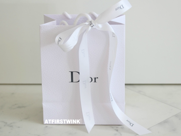 Dior x Glamour beauty workshop goodiebag