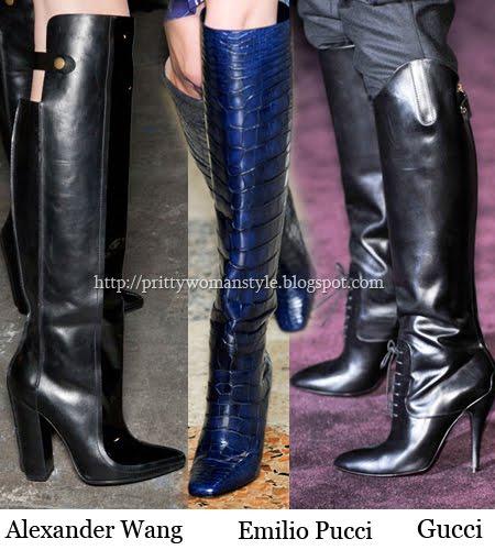 дълги ботуши под коляното зима 2013