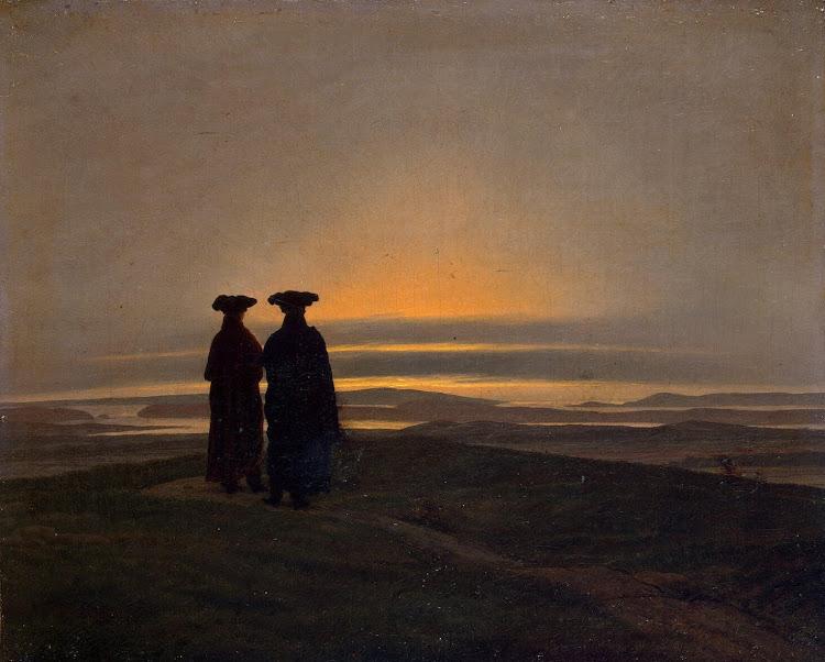 Caspar David Friedrich - Sunset Brothers 1830-35