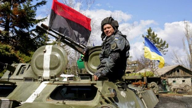 """Armed forces unblocked the base of the """"Right Sector"""" volunteers"""