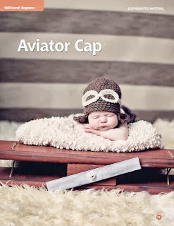 crochet pattern aviator cap