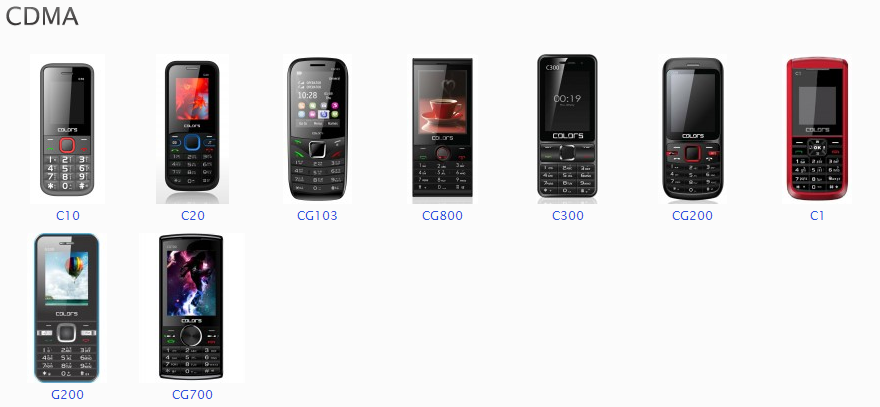 colors CDMA series