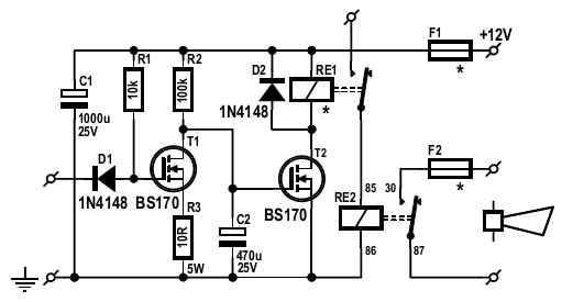 Car Alarm Sound Booster Circuit Diagram car alarm sound booster circuit diagram car alarm circuit diagram at aneh.co