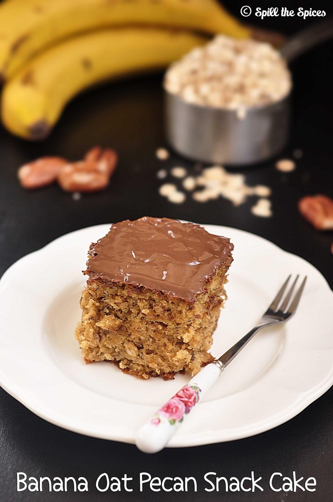 Oat Flour Banana Cake Recipe