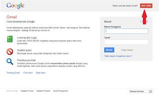 cara mudah membuat Gmail Tahun 2013