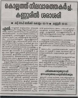 Kannur LDC Cut Off Mark