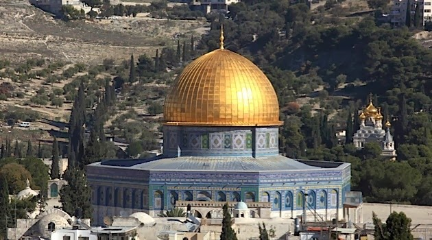 THE AL AQSA MOSQUE ON THE TEMPLE MOUNT.