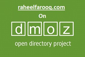 Raheel's Web Featured on DMOZ - Open Directory Project (ODP)