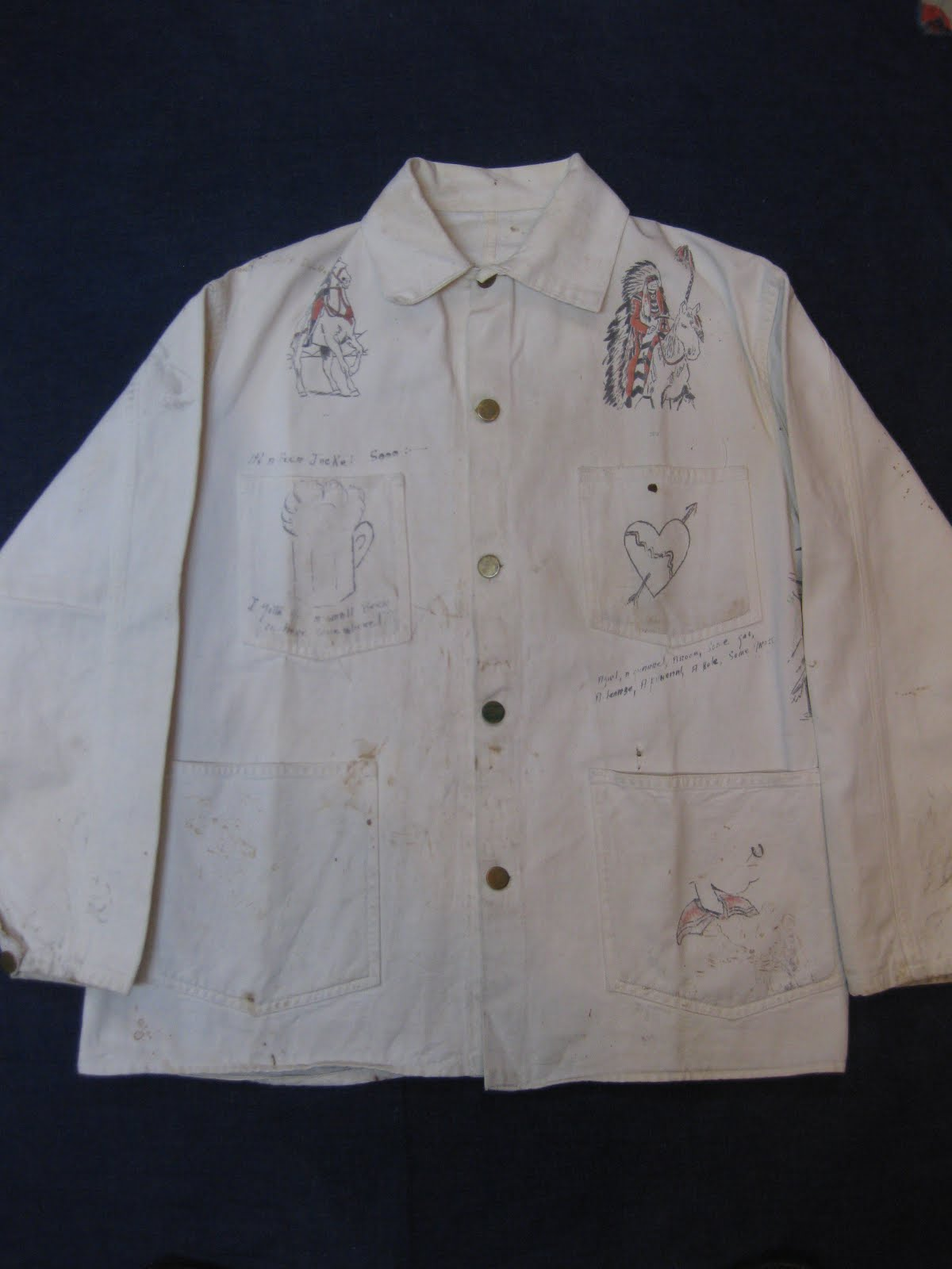画像①                ~30's HAND PAINTED COVERALL JACKET
