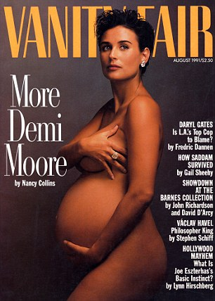 Mariah isn't the first celebrity to pose nude during pregnancy.