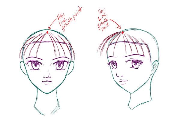 draw anime manga hair