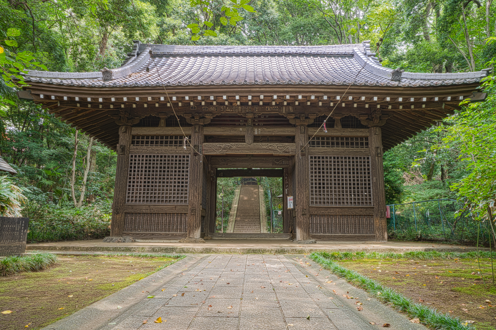 武蔵国分寺、仁王門の写真