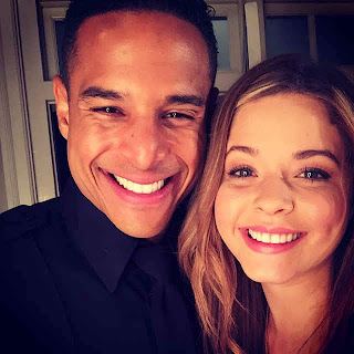 Sasha Pieterse and Travis Winfrey (Alison and Lorenzo) PLL BTS