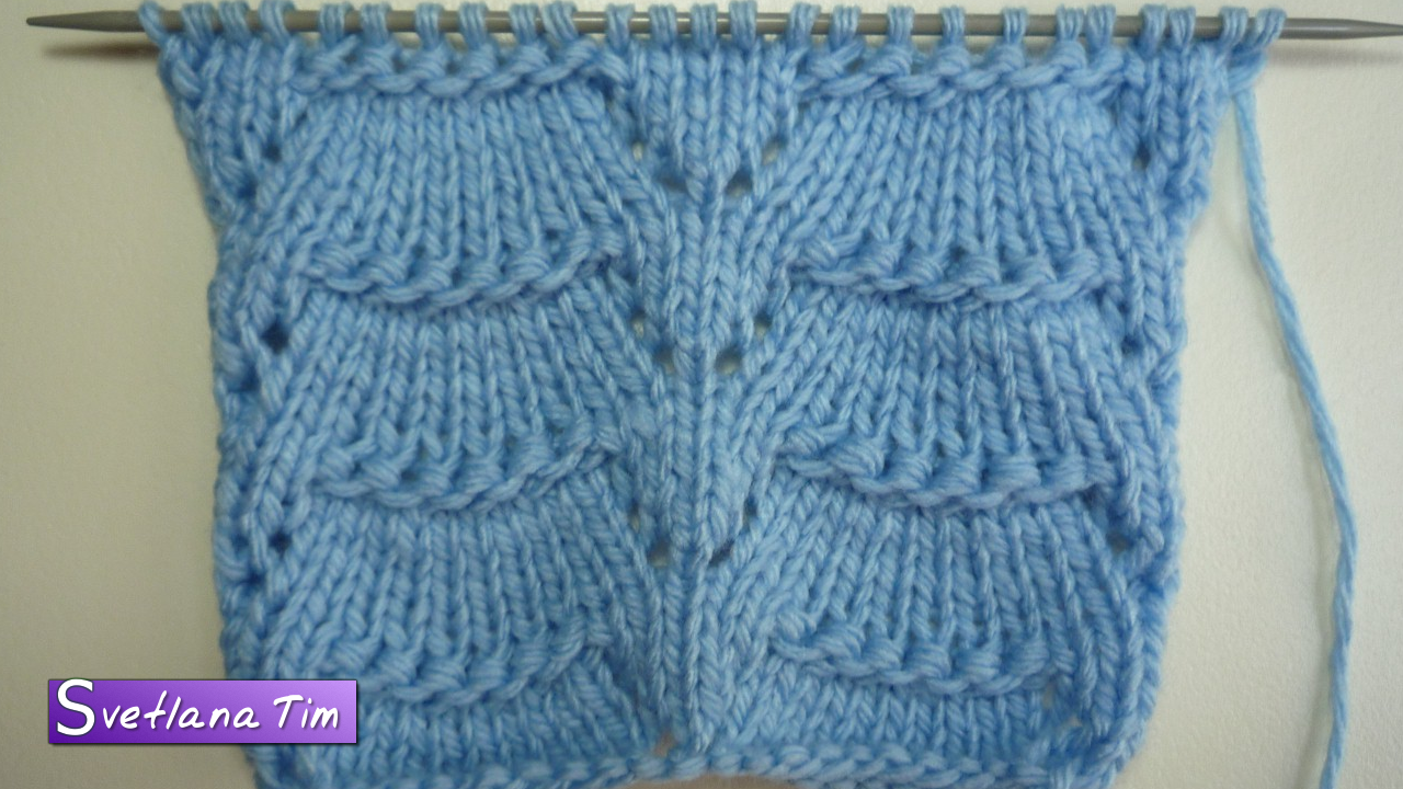 несложные схемы вязки спицами для шарфа