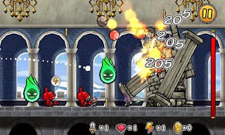 Screenshots of the Princess Punt. Kicking My Hero for Android tablet, phone.