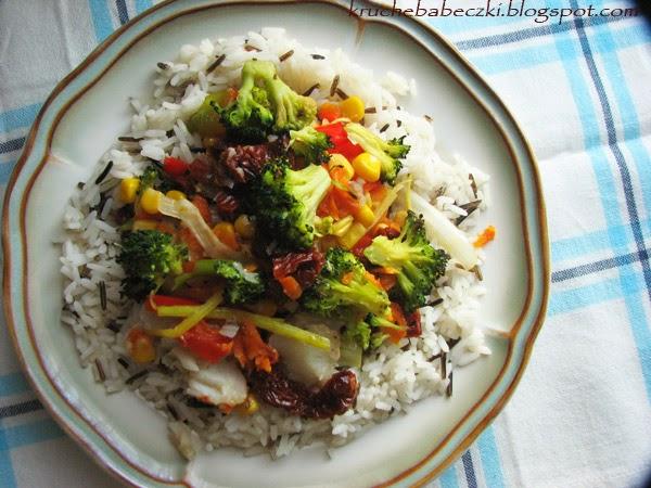 Dorsz zapiekany z warzywami :)