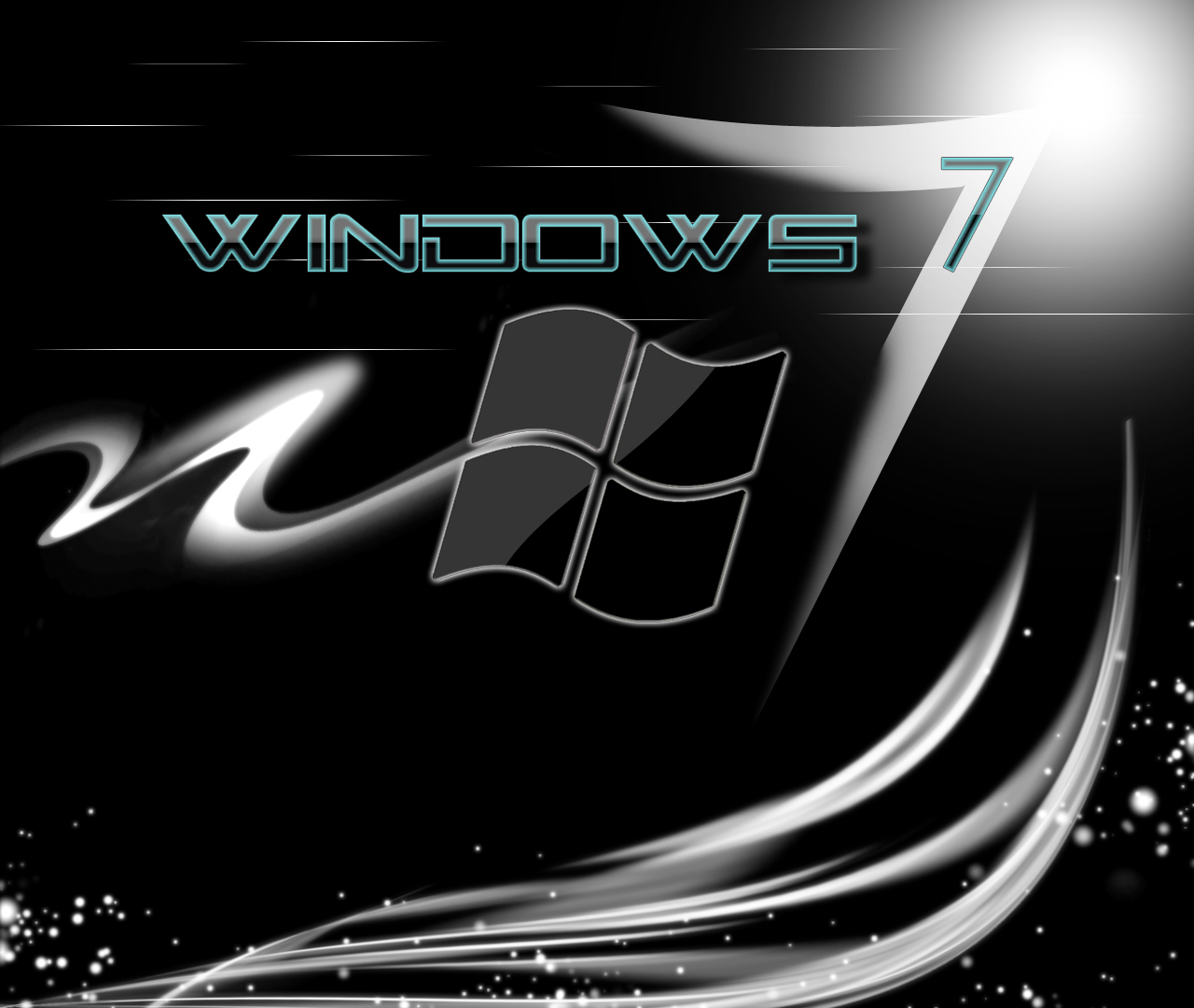 black wallpaper windows 7