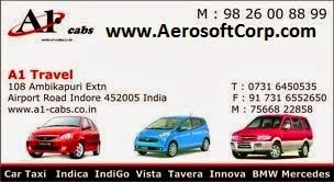 Best Car Taxi in Indore, Call 098 26 00 88 99