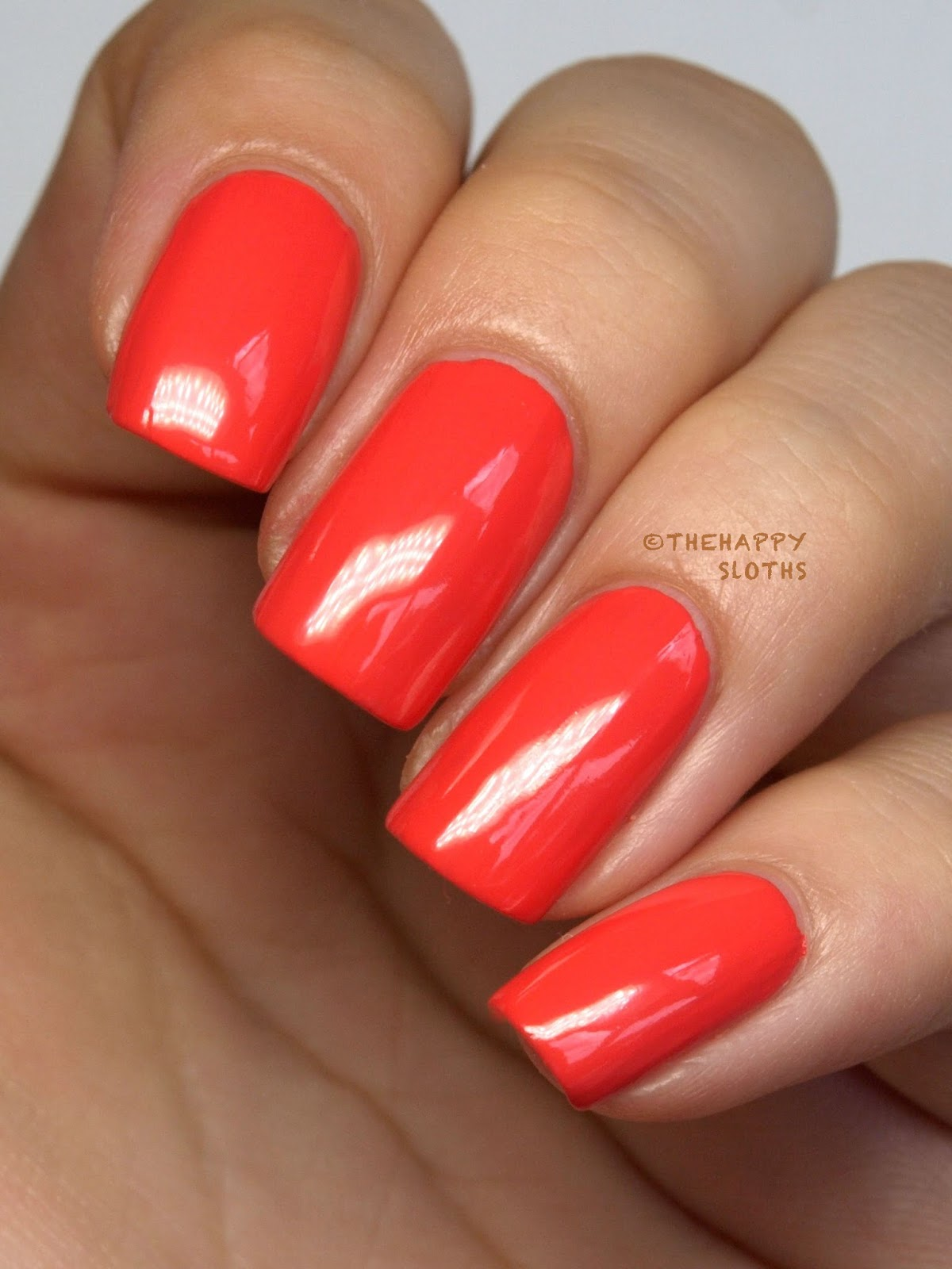 Nicole by OPI Seize the Day Summer 2014 Coral of the Story Review Swatch