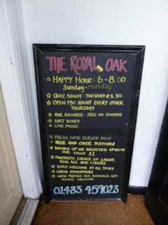 The Royal Oak Pub in Guildford has Free Bar Billiards on a Sunday