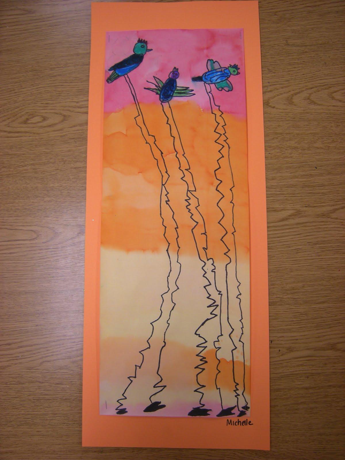 2nd Grade Dali Birds