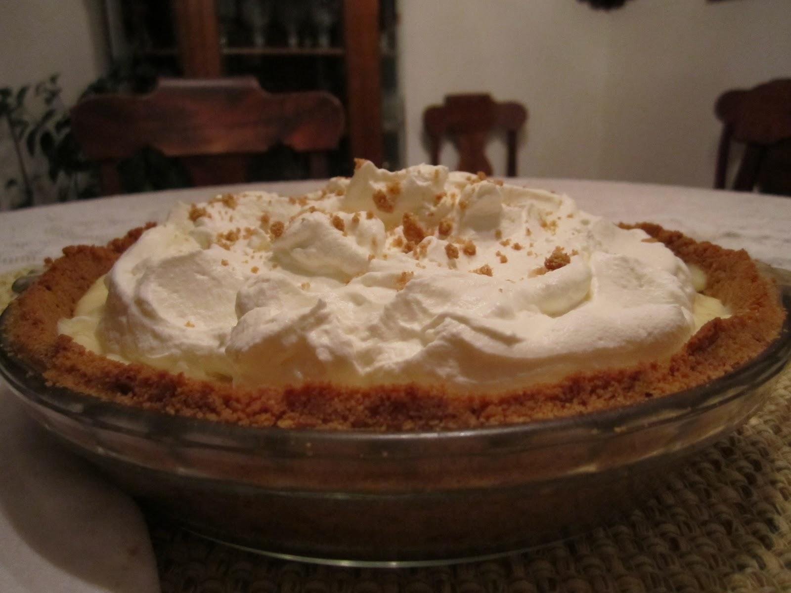 The Irish Mother: Banana Cream Pie with Bourbon Caramel Sauce