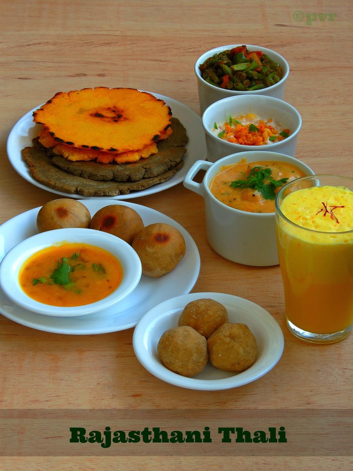 Priyas versatile recipes rajasthani thali sn challenge rajasthani thali sn challenge forumfinder Image collections