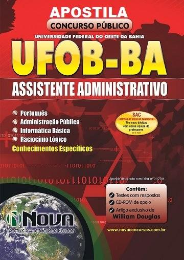 Apostila Concurso Universidade Federal do Oeste da Bahia UFOB 2014