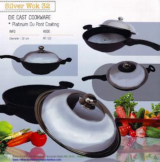 Info & Harga Twin Tulip Tulipware 2014 : Silver Wok 32 - Alat Masak