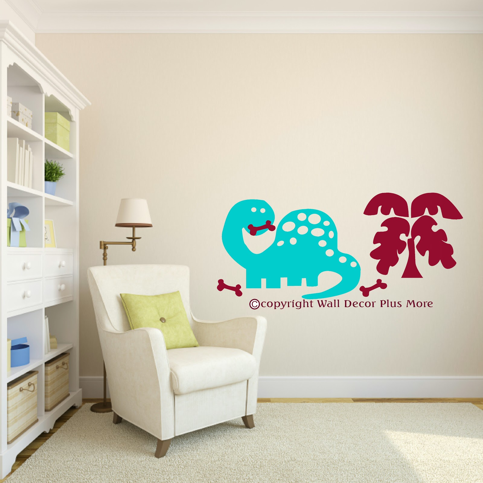 Wall Decor Plus More : Decorating with wall vinyl dinosaur stickers new