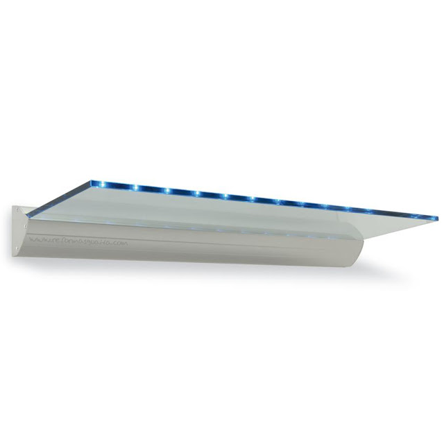 estante cristal luz led repisa cocina 46020
