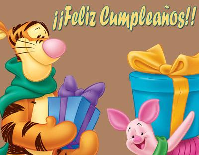 Feliz cumpleaños Tigger y Piglet