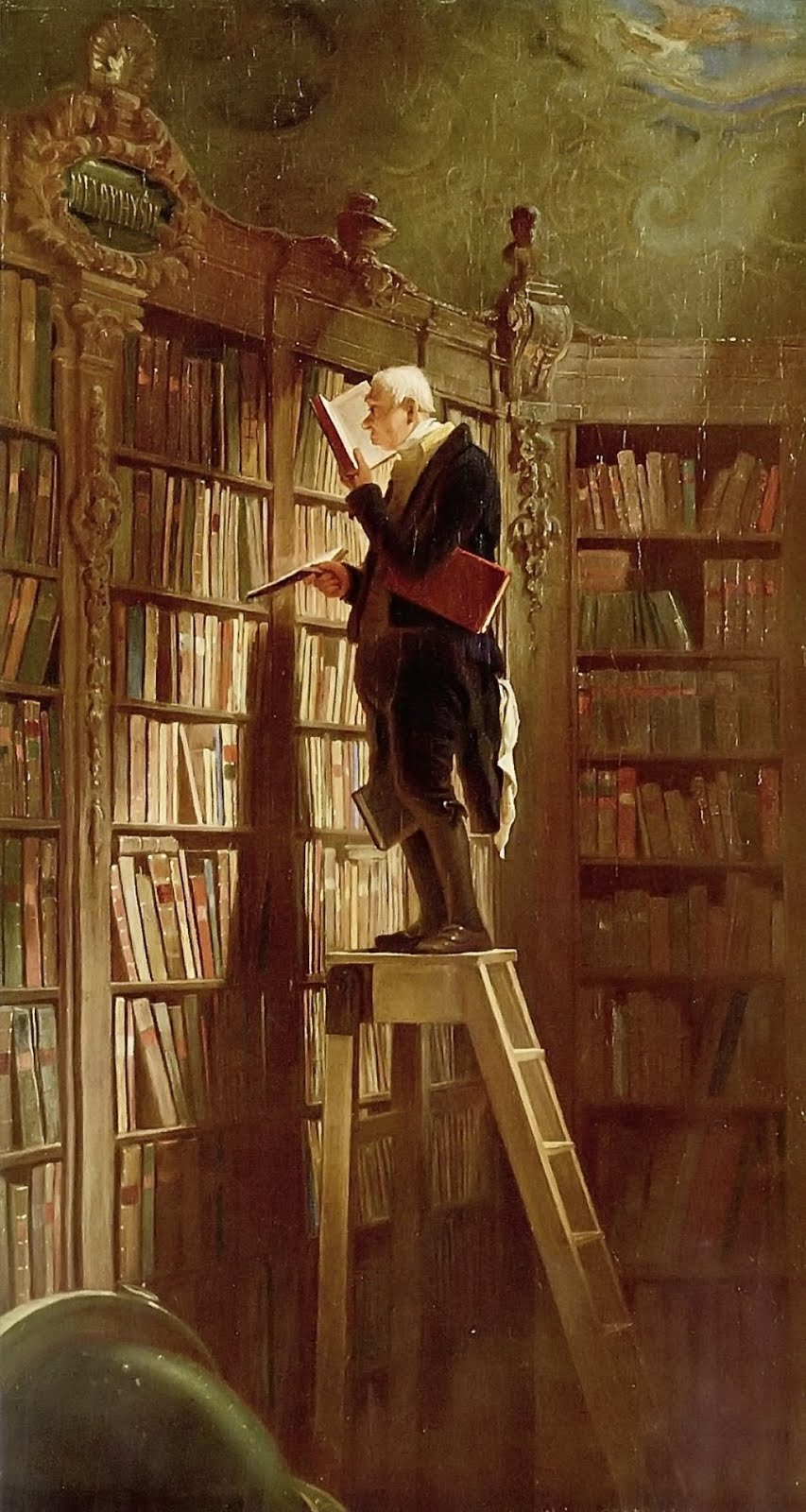 Spitzweg, The Bookworm, 1850