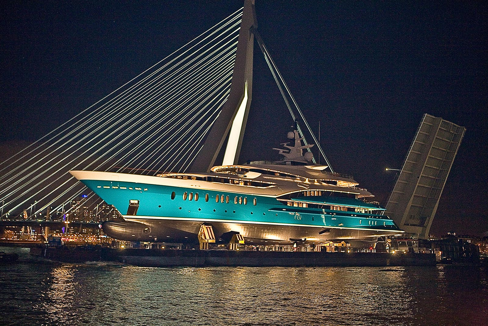 Superyacht SUNRAYS at Night