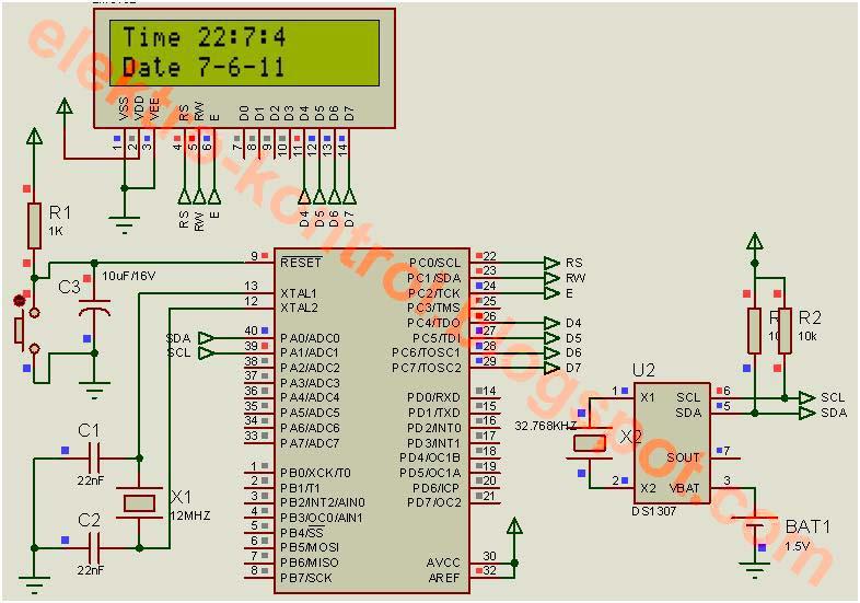 ... DS1307, maka kita akan dengan mudah dapat mengakses RTC DS1307