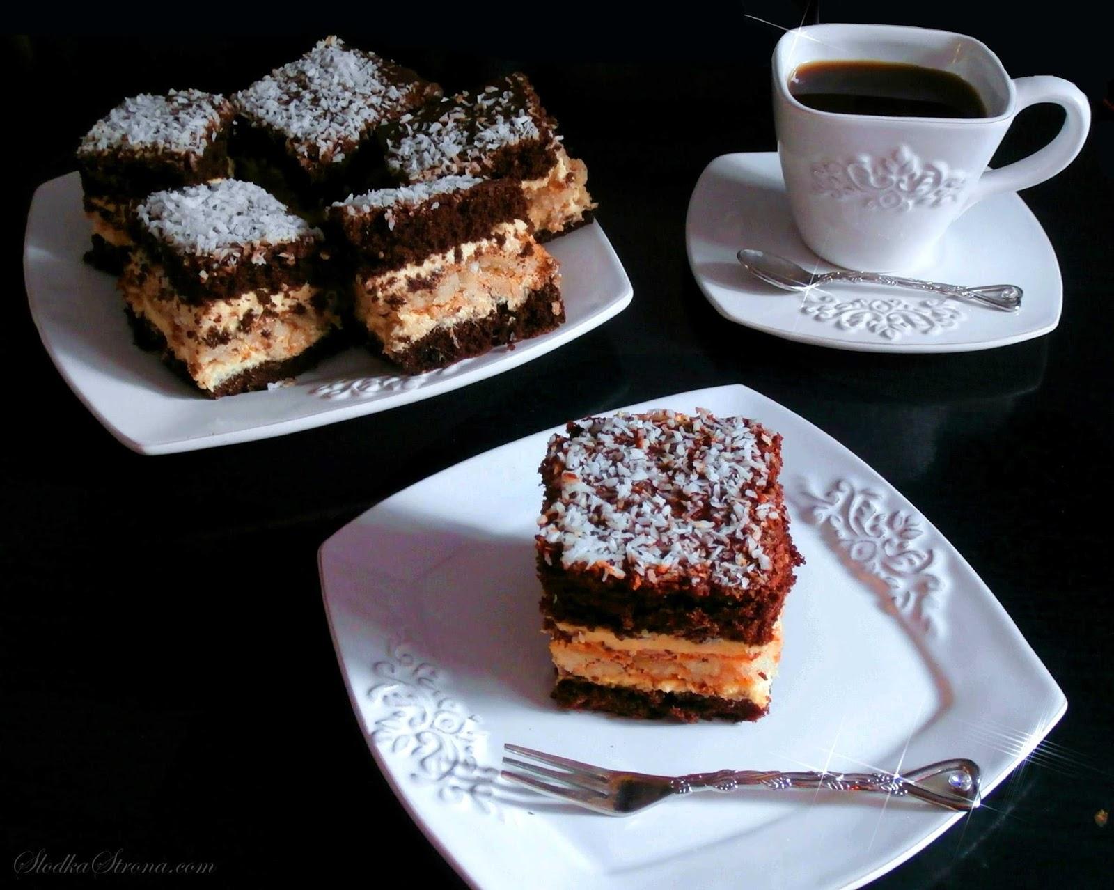 Ciasto Cappuccino z Kokosem Siostry Anastazji - Przepis - Słodka Strona