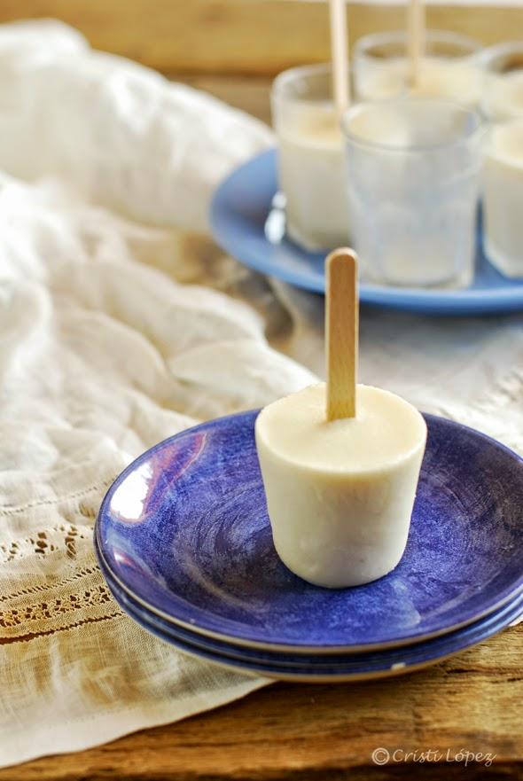 polo de yogur de horchata
