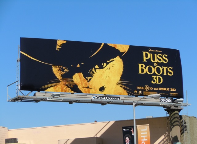 Puss in Boots movie billboard
