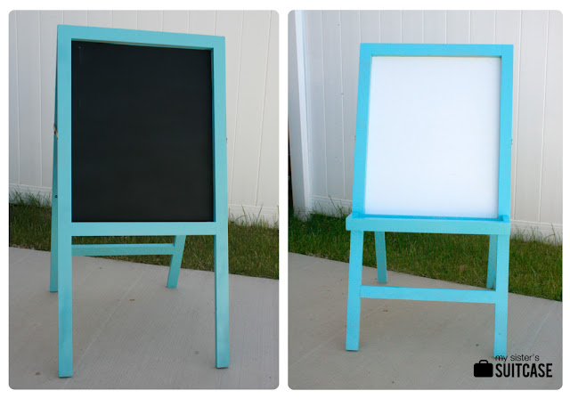 painted easel