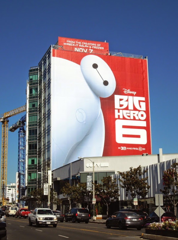 Giant Big Hero 6 movie billboard