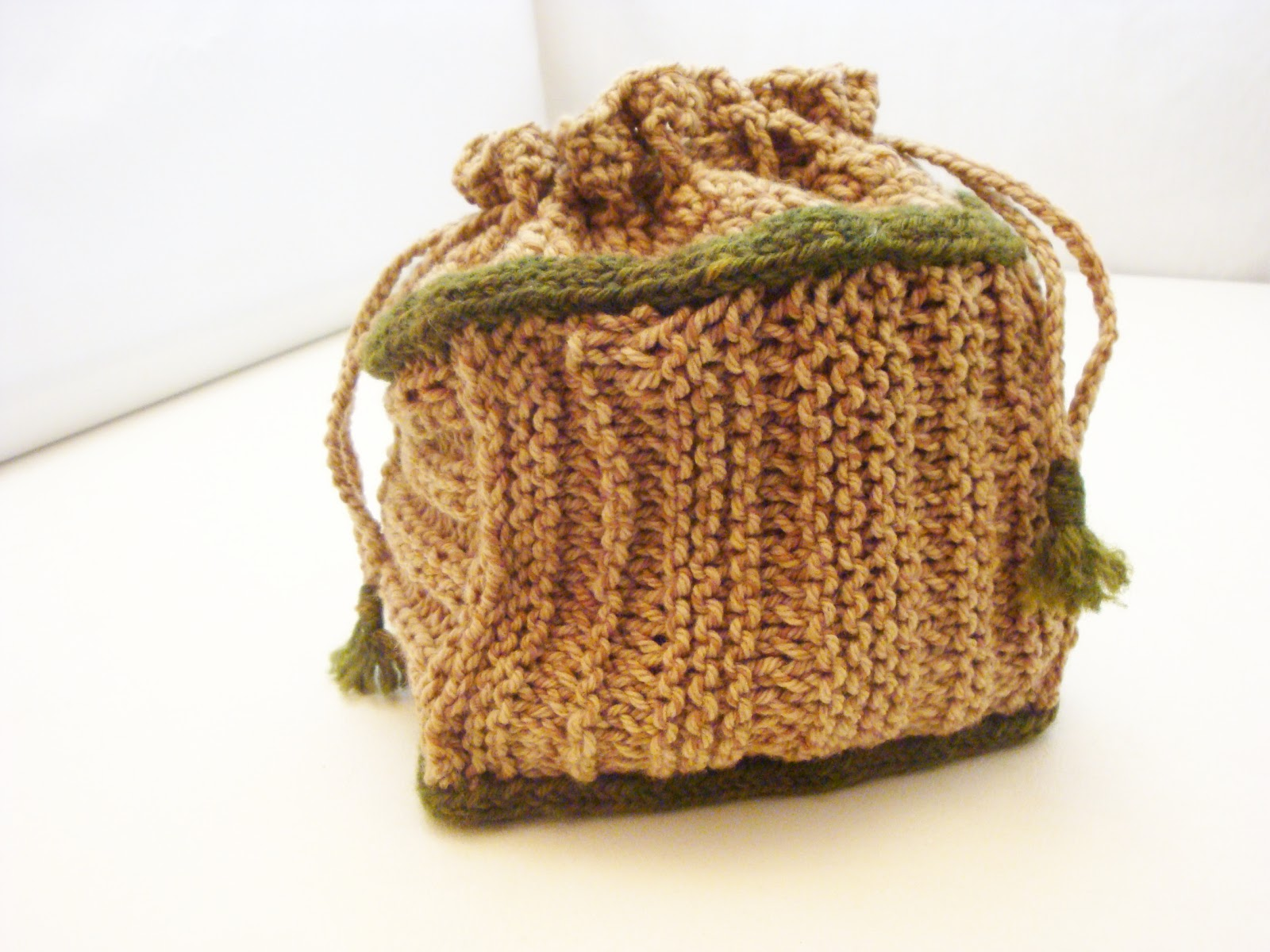 Crochet Project Bag : ... Project Bag made with naturally-dyed yarns includes knitting, crochet