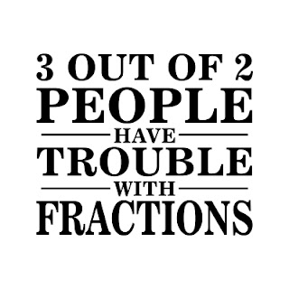 3 out of two people have trouble with fractions