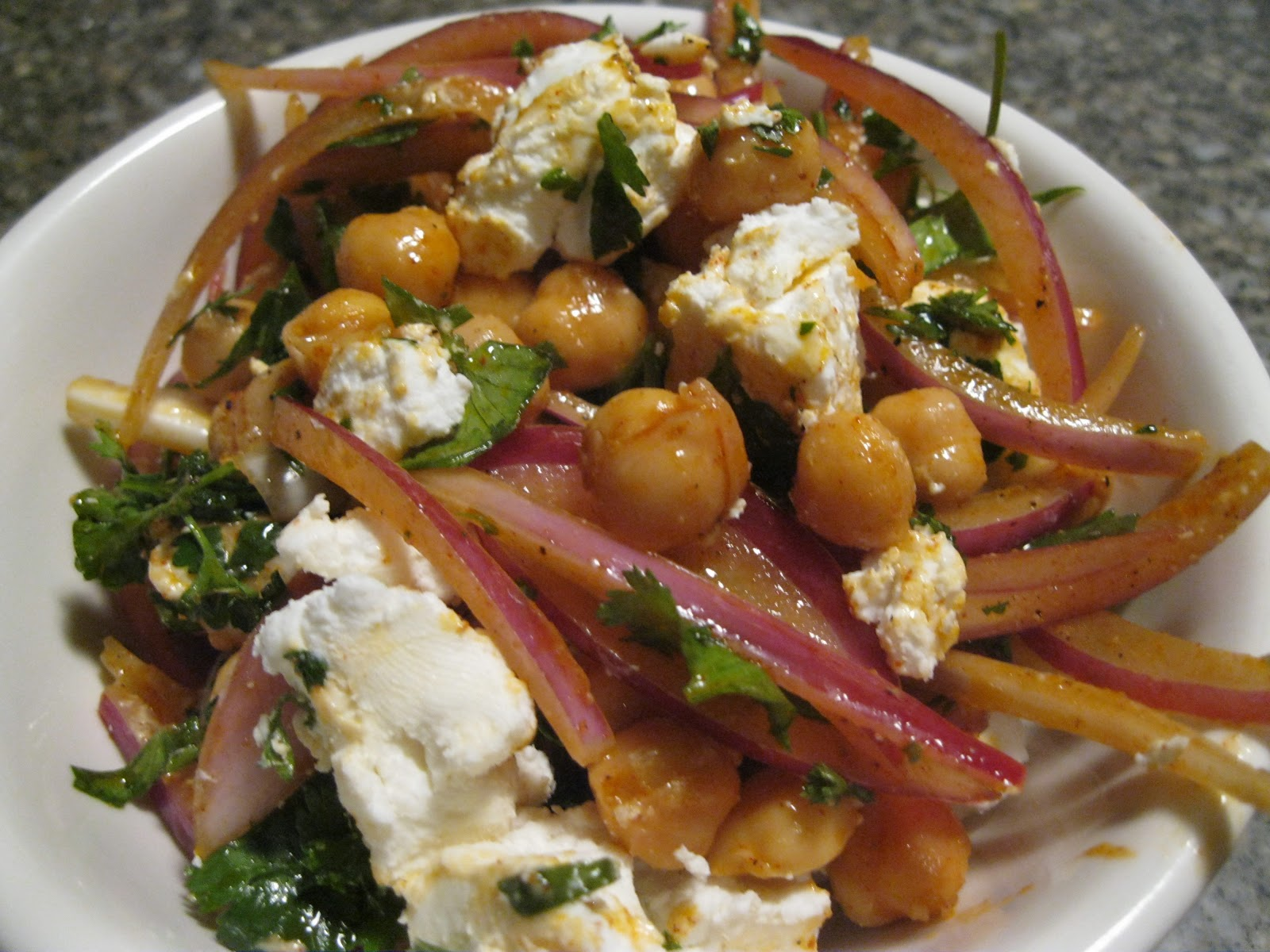 ... Tomatoes Until They're Picked: Chickpea Salad with Onions and Paprika